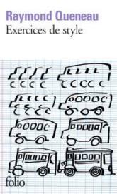 Exercices de style de Raymon Queneau - folio livres