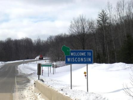 Welcome to Wisconsin pancarte