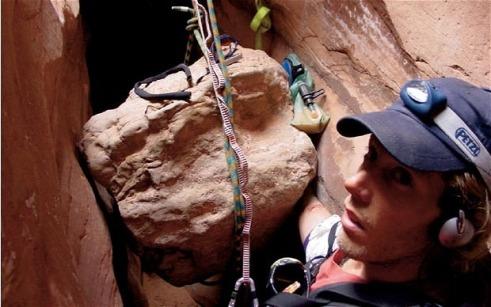 Aron Ralston rocher - 127 heures
