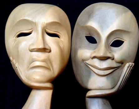 masques humeur joie et tristesse