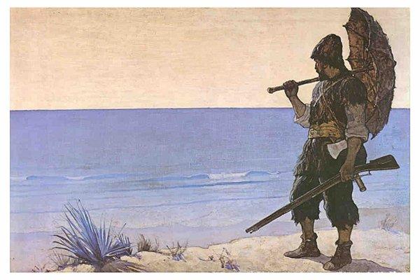 Ronbinson crusoé - affiche - photo - image - vendredi ou les limbes du pacifique defoe tournier
