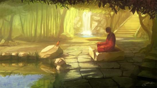 moine médiation bouddha samanas siddhartha position