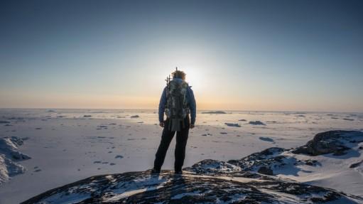 Nicolas Dubreuil sur la banquise - aventure polaire