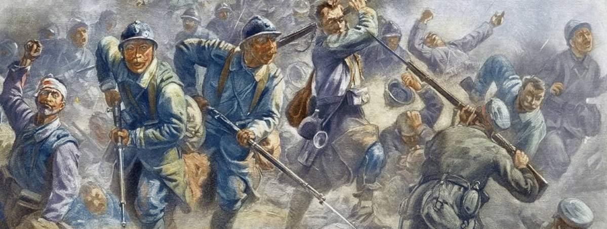 en-1916-le-gouvernement-commande-au-peintre-henri-georges-jacques-chartier-cette-reprise-du-fort-de-douaumont-par-l-infanterie-francaise